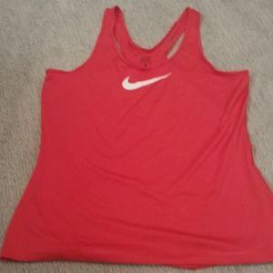 Nike Pro DRI-FIT red tank top sz XL